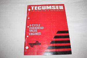 Tecumseh-Technician-039-s-Handbook-4-Cycle-Overhead-Valve-Engines-Book
