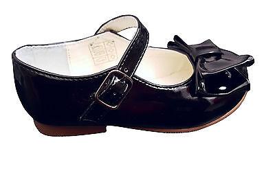 Estilo Español Mary Jane Zapatos Arco Fiesta Infantil del Reino Unido Talla 4-Juventud Talla 2 Nuevo en