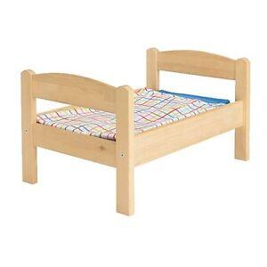 IKEA-DUKTIG-PINE-DOLL-BED-WITH-BEDLINEN-MULTICOLOR-SET-KIDS-18-MONTHS-AND-OLDER