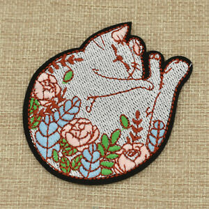 1pc-Flower-Sleeping-Cat-Embroidery-Patch-Iron-on-Applique-Decor-for-Bag-Clothes