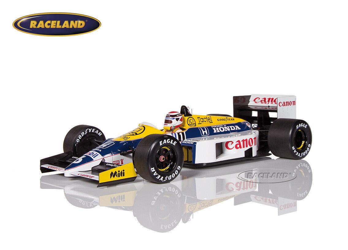 Williams fw11 HONDA v6 f1 Vincitore GP Ungheria 1986 Nelson Piquet, Minichamps 1:18