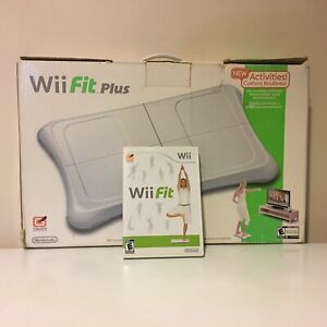 Boxed Nintendo Wii Fit Plus w/ Balance Board, Extender Feet & Game Tested Works