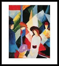 August Macke Schaufenster Poster Bild Kunstdruck im Alu Rahmen schwarz 58x48cm