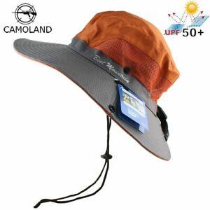 758af3c7693 Hat Bucket Fishing Cap Summer Wide Brim Boonie Safari Outdoor UV Sun ...