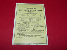 N°25 PARIS 1900 PANINI OLYMPIA 1896 - 1972 JEUX OLYMPIQUES OLYMPIC GAMES