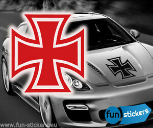 iron cross old school aufkleber tuning fun sticker. Black Bedroom Furniture Sets. Home Design Ideas