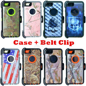 For iPhone 6S Plus 6 Plus Camo Case Cover  Belt Clip fits Otterbox ... 0cc8ae5f1243