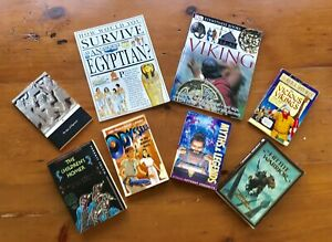 Ancient-History-Homeschool-Lot-of-8-Books-to-Enhance-Curriculum-most-like-NEW