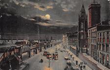 R305066 166 M. Liverpool. Overhead Railway. Evening Scenes. Pictorette Series. T