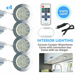 4X-White-Led-Interior-Light-Led-Controller-Car-Charger-Car-Caravan-Camper-Lamp