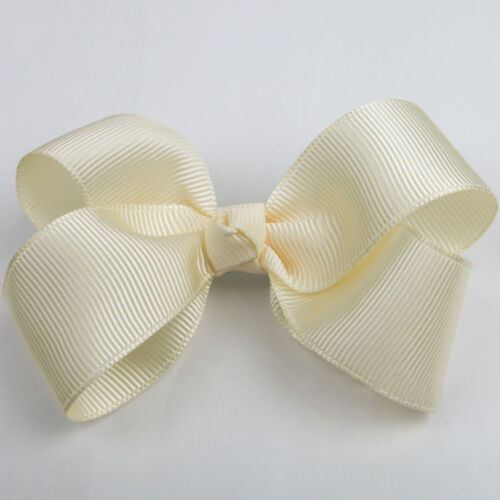 "4/""  6/"" INCH BOUTIQUE HAIR CLIP PIN ALLIGATOR GROSGRAIN RIBBON BOW GIRL"