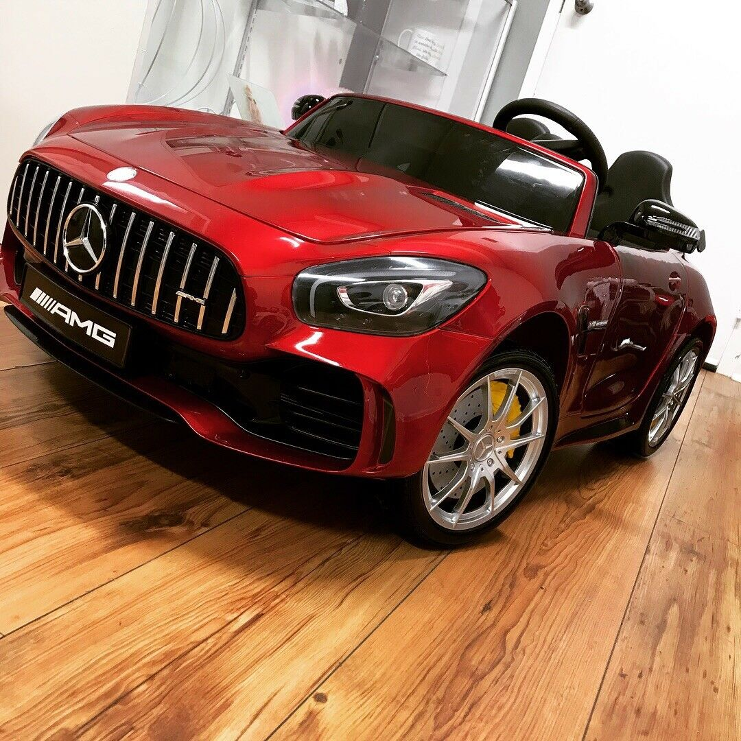 Mercedes-Benz GTR AMG 2 Seater Kids Ride on Battery Powered Electric Car with RC