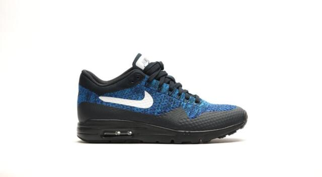 timeless design 94632 d6239 Womens NIKE AIR MAX 1 ULTRA FLYKNIT Blue Trainers 843387401