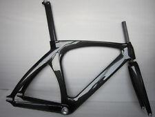 "carbon fiber track bike frame fixed gear, single speed free headset 1-1/8"""