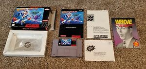 Mega-Man-X-1-Super-Nintendo-SNES-Video-Game-CIB-Complete-Box-Manual-lot-TESTED