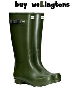 WAREHOUSE SALE New Mens Hunter Field Wellies Wellington Boots Green Size 11