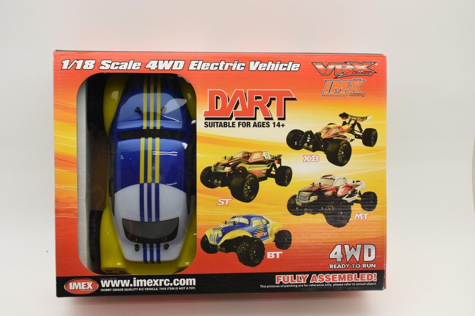 VRX18842-BT KOLOR-blå DART MT BRUSHLESS 1 18 SKALE 4WD ELEKTRISK FORDON (REB)