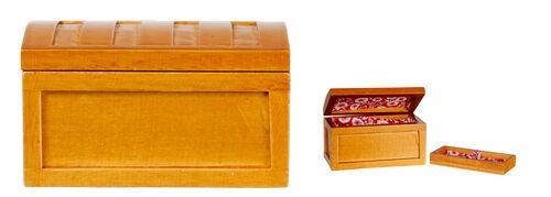 Fancy Attic Steamer Trunk Dolls House Miniature Bedroom Furniture