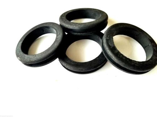Lot of 4 Heavy Duty Rubber Grommets 2-1/2 Inside Diameter- Fits 3 Panel Holes