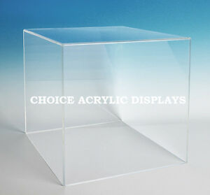 Image Is Loading Large Box Case Acrylic Cube Display Large Collectible