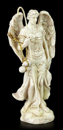 Weiß Fantasy Schutzengel Deko Statue Kleine Erzengel Figur Raphael