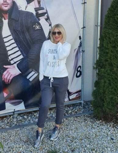 Femmes Jogging-freihzeit Pantalon /'Wendy Trendy/' Couleur MANHATTEN-Gris