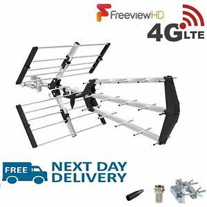 Freeview-TV-48-Element-Triboom-Aerial-4G-Outdoor-amp-Indoor-Digital-HD-4K-Signals