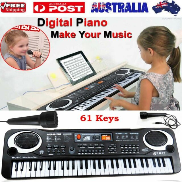 61 Keys Electronic Music Keyboard Organ Piano Set With Microphone Kids Set