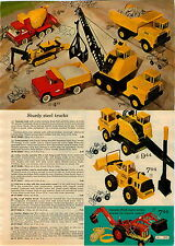 1967 ADVERT Tonka Nylint Toy Truck Trencher Shovel Loader Dump Ford Tractor