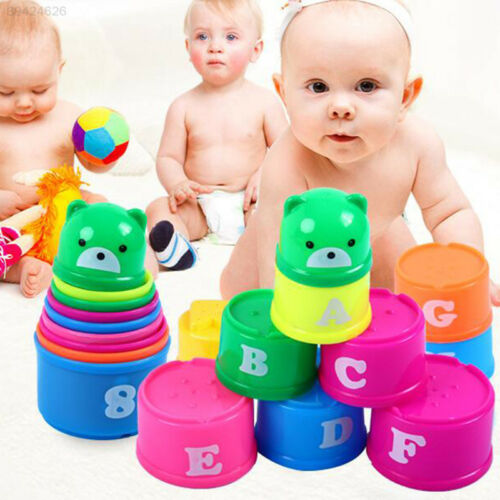 Stacking Cups Sets Baby Early Education Leaen Toys Cute Lovely Building Kits