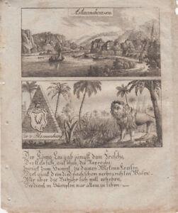 Hannoversch-Muenden-Niedersachsen-Orig-Kupferstich-1830-Zittauisches-Tagebuch
