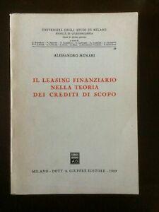 Il leasing finanziario nella teoria dei crediti di scopo - Giuffrè 1989