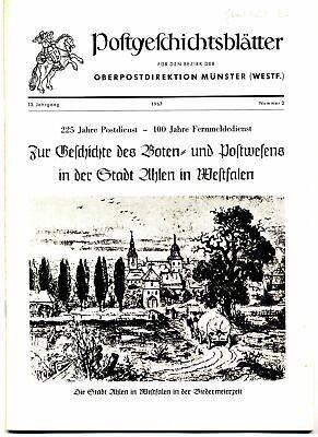 2019 Mode Postgeschichtsbl. MÜnster 1967,h.2 - Boten- U. Postwesen In Der Stadt Ahlen