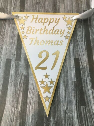 Birthday Bunting Personalised any and and any colour banner