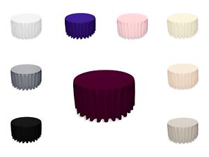Polyester Tischdecke Tischtuch Rund Tischbezug Farbe und Größe Wählbar Neuware