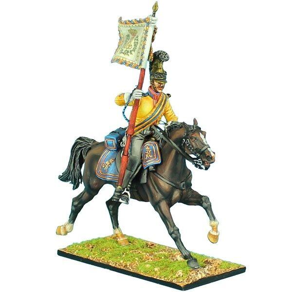 NAP0429 Saxon Guard du Corps ståard Bearer av First Legion