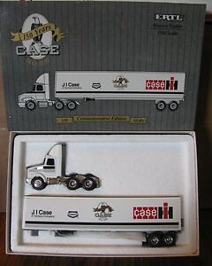 Case-IH-White-GMC-Semi-Truck-amp-Trailer-150-Commemorative-Years-1-64-Ertl-1993