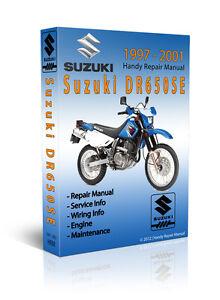 suzuki dr650 dr 650se 2002 repair service manual
