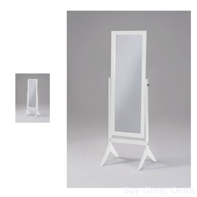 Full Length Floor Mirror White Tilt Wooden Bedroom Free Standing Dressing Tall