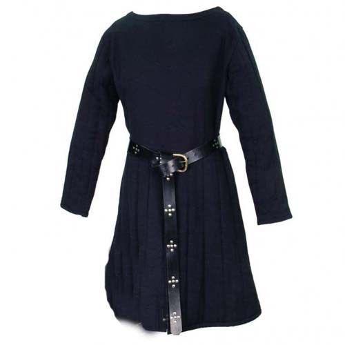 X-MAS GIFTBeautiful Thick Padded Blue Gambeson Medieval Aketon Coat Armor Cotton