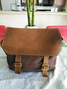 Seltene Jeans Mini amp; Canvas rucksack Armani Hlfte Leder Brown 4rRZ4nq