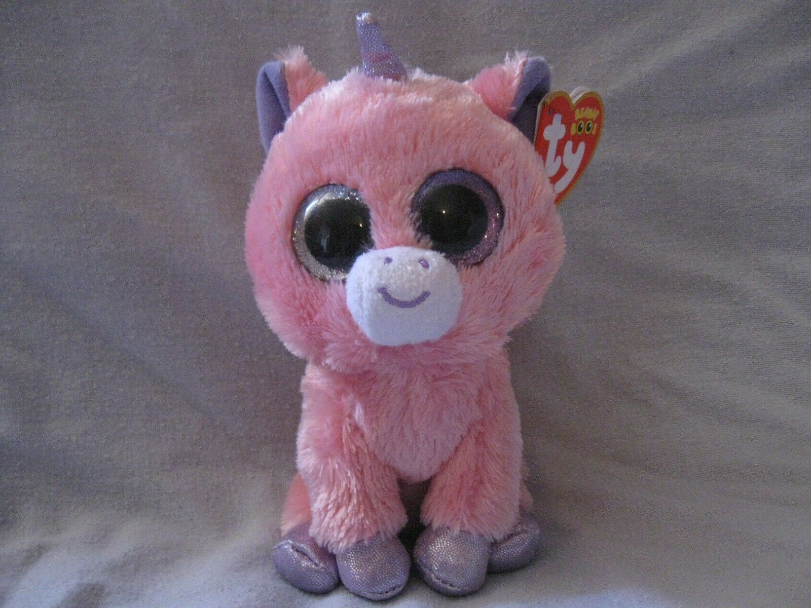 Ty beanie boos magic unicorn rare htf defect 2 different colord eyes  7
