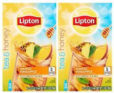 Lipton Tea and Honey Mango Pineapple Iced Green Tea To Go Packets 10ct Pack of 2