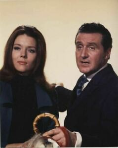 The Avengers Diana Rigg Patrick MacNee TV Series Vintage Color 8x10 Photo