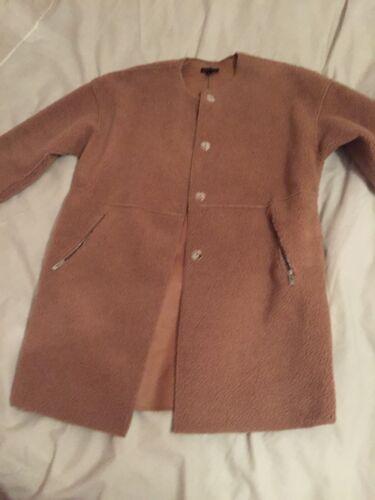 maat oversized Shearling Faux Topshop jas boxjas teddybeer tan small zacht q8ZBBw6X