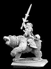 Ursula Bear Rider Dwarf Captain 14433 - Warlord - Reaper MiniaturesD&D Wargames