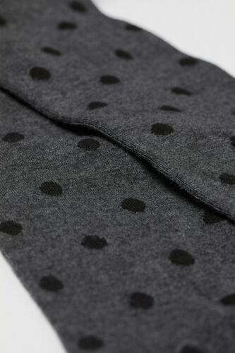 H/&M HM Women/'s Tights Polka Dot Dotted Grey Melange Fine-Knit S,M,L,XL NWT