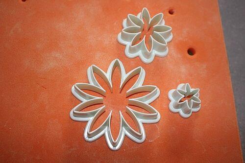 3 Pcs Sunflower Petal Mold Cutter  Various Sizes Sugarcraft Cake Decorating