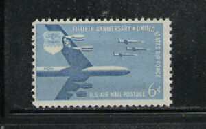 ESTADOS-UNIDOS-USA-1957-MNH-SC-C49-US-Air-Force-50th-Anniv