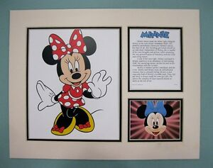 """Disney 11"""" x 14"""" MINNIE MOUSE DOUBLE MATTED Lithograph Print by OSP Publishing"""